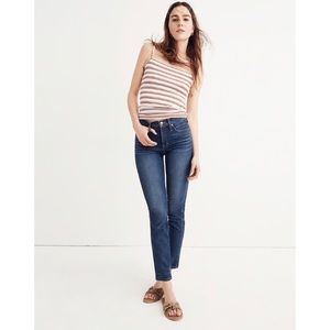 NWOT Madewell Slim Straight Jeans in William Wash